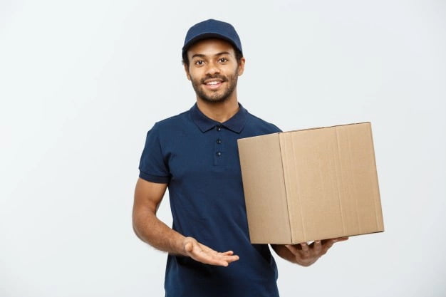 worker with a box